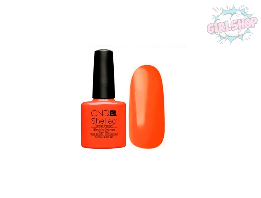 Гель лак CND Shellac Electric Orange
