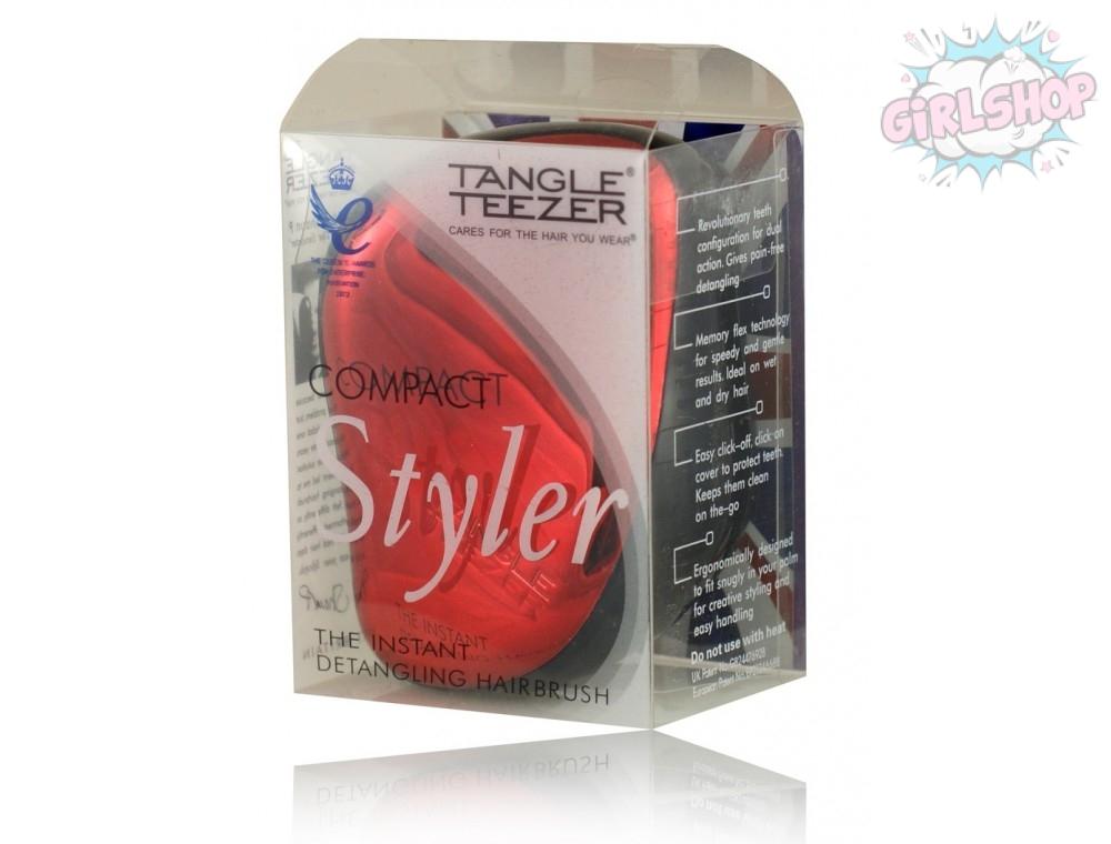 Расческа Tangle Teezer compact красная