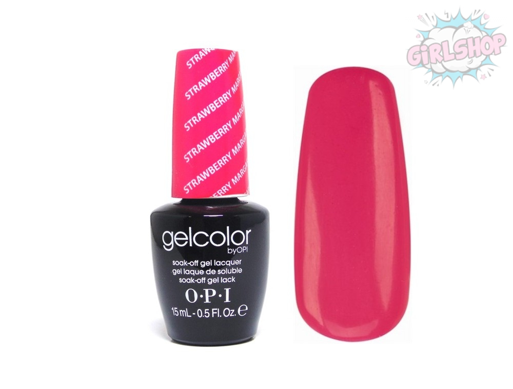 Гель лак OPI GelColor Strawberry Margarita M23, 15 мл
