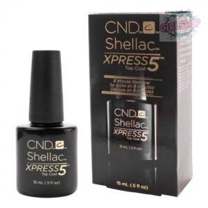 CND Shellac Top Coat NEW xpress5 (верхнее покрытие) 15 мл