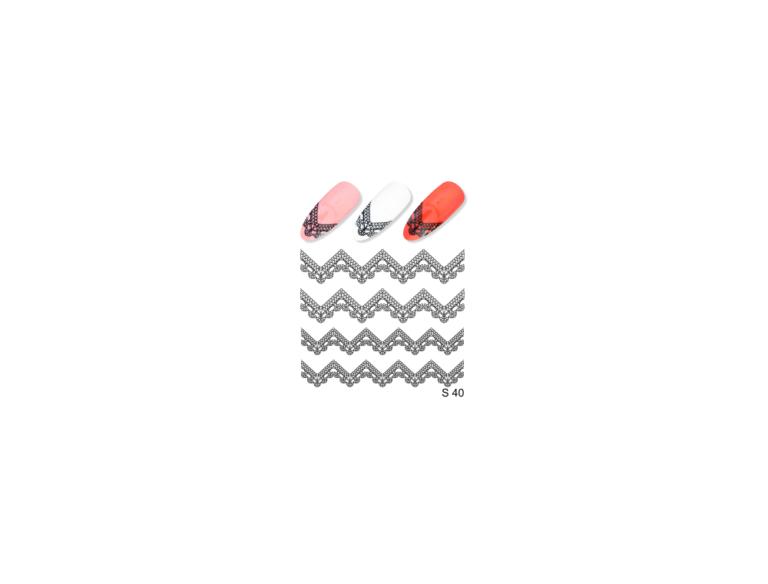 Слайдер для дизайна ногтей S40 серебро