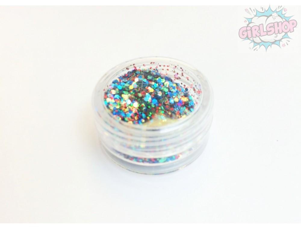 Блестки для дизайна ногтей крупные и мелкие конфетти