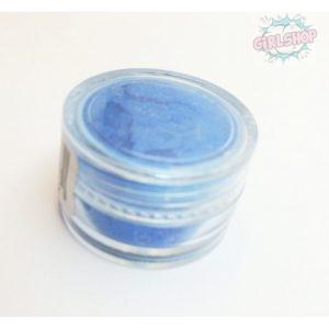 Пигмент для дизайна ногтей голубой